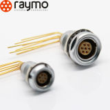La serie ECG di Raymo 3b ha riparato lo zoccolo 3, 4, 7, 8, 10, 12, 14, 16, 18, 21, connettore di cavo circolare dei contatti del PWB del gomito 30pin