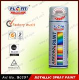 Laca metálica que cubre la pintura de aerosol impermeable