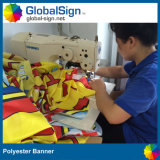 Bandeau publicitaire d'intérieur ou extérieur de polyester de tissu de bonne qualité monté