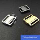 clip en métal de soutien-gorge de 12mm dans le Gunmetal argenté de noir d'or