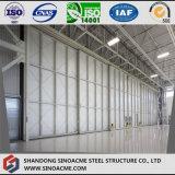 Große Überspannungs-Stahlkonstruktion-Flugzeug-Hangar mit in voller Länge Tür