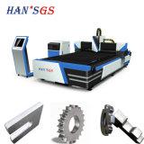 Machine de découpage en acier de laser de feuillard de commande numérique par ordinateur avec 3000mm*1500mm 500W