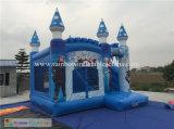 Reina inflable combinada congelada inflable de la historieta con el castillo de salto de la diapositiva