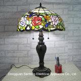 Tiffany lámpara de mesa para la decoración del hogar de fábrica de lámpara de mesa de vidrio manchado para la venta al por mayor