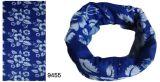 1 Bandana azul da impressão do projeto da flor da cor (YT-9455)