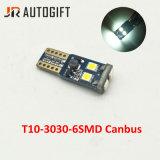 Libre de error T10 3030 SMD de 6W5w lámparas Canbus, Luces de matrícula de coche