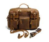 이탈리아 새로운 디자인 가죽 가방 제조자 미친 말 가죽 어깨 핸드백 서류 가방 (RS-68058-P)