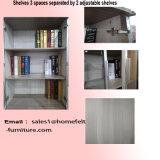 As prateleiras do gabinete de arquivo três da biblioteca da mobília de escritório são porta ajustável ou nenhum pedido do OEM da porta aceitável