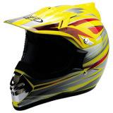 HM9011 Motorcross casco (amarillo)