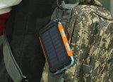 10000mAh resistente al agua el polvo, Banco de la Energía Solar de carga rápida para acampar con función de SOS