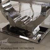 La sala da pranzo superiore di marmo moderna dell'acciaio inossidabile imposta la Tabella pranzante di Funriture del salone (SJ806)