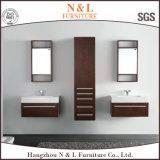Vanità moderna della stanza da bagno di legno solido di stile con lo specchio del LED