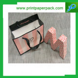 Sac cosmétique de papier d'emballage de bijou de mode de sac à main de cadeau fait sur commande d'achats