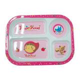 100%년 멜라민 식기류 - 아이의 시리즈 아이들은 격판덮개 (MRH18001) 아이의 Giftware를 분할했다