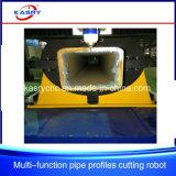 Quadratischer Rohr-Profil-Gefäß CNC-Ausschnitt und abschrägenfertig werdene Maschine mit Plasma-und Flamme-Fackel