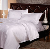 Atacado Luxury White Cotton Hotel Jacquard Bedding (DPF201503)