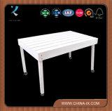 Table d'affichage en bois personnalisée avec roues