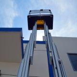 Двойная платформа воздушной работы рангоутов на максимальная высота 6m