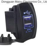 USB 충전기 허브 로커 스위치 온/오프 강요 파란 LED 빛