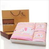 Luxury 100% algodão gaze toalha Muslin suave de conjunto de toalhas