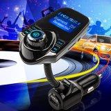 차 MP3 오디오 선수 FM 전송기 무선 FM 변조기 차 장비 이동할 수 있는 T10를 위한 핸즈프리 LCD 디스플레이 USB 충전기