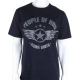 Commerce de gros Custom noir T-shirts en coton Pima