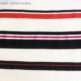 Van het Katoenen van de manier de Toebehoren van het Kledingstuk van de Singelband van de Rib Lint van de Polyester