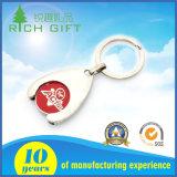 Design exclusivo e inovador de esmalte de Metal Personalizado Chaveiro moedas multifunção com pulso de Silicone