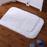 coperta lavabile di lusso del bagno di bagno di pollice 20X32 della stuoia della stanza da bagno delle coperte delle coperte di gomma antisdrucciolevoli Shaggy molli bianche dell'acquazzone per il salone