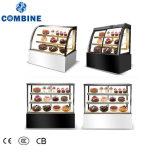 expositor refrigerado para tartas/Japanese-Style Multi-Deck visualización en ángulo recto de refrigerador