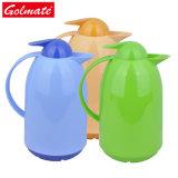 Forme unique à double paroi en plastique coloré Café Pot d'eau