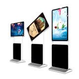 Il verticale diritto libero dell'annuncio pubblicitario gira il contrassegno interattivo dell'affissione a cristalli liquidi Digital dello schermo