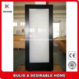 Ванные комнаты с современной боковой сдвижной двери с фейрли матового стекла