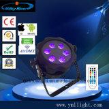 Luz LED alimentado por batería de DJ Luz PAR RESISTENTE AL AGUA Luz Superior DMX WiFi luz inalámbrica