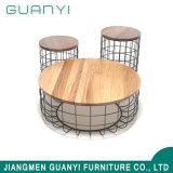 2019 moderno mobiliário Cafa de madeira nova mesa de café de Metal