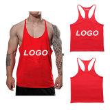 Custom plaine d'impression de gros Commerce de gros muscle équipé de bodybuilding singulet Stringer Mens salle de gym Tank Top