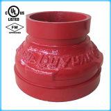 Riduttore concentrico Grooved del ferro duttile con la certificazione di FM/UL