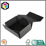 Коробка подарка картона белого логоса роскошная черная с магнитным концом