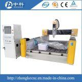 Máquina de grabado de piedra del CNC con el eje de rotación de la refrigeración por agua