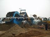 Equipamento de lavagem da areia, máquina de lavar da areia do silicone, planta de lavagem da areia móvel