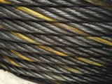 Graisse de la corde 6X37 A2 de fil d'acier avec un brin jaune