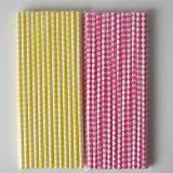 Paglie di carta ecologiche calde gialle di colore 100% di colore rosa per il partito