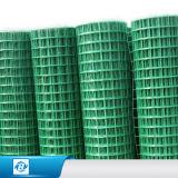 Acoplamiento de alambre soldado cubierto PVC galvanizado para la jaula/el filtro
