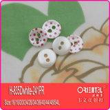 Tasto di camicia stampato PUNTINO bianco della perla