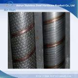Filtro de tubo espiral de núcleo de aço inoxidável perfurado