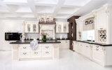 2017の新式の白い純木の台所家具の熱い販売は解放するデザイン(zq-002)を