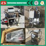 Máquina hidráulica inoxidável da imprensa de filtro do petróleo da placa e do coco do frame