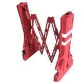 Barriera di plastica estendibile rossa portatile provvisoria del blocchetto di strada