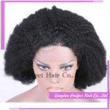 La mano de calidad superior de la peluca del pelo humano ató pelucas baratas al por mayor del pelo humano las pelucas llenas del cordón