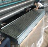 0.12-0.8mm Spangle Regular a folha de aço galvanizado de papelão ondulado para coberturas